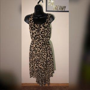 SANS SOUCI Animal Print High Low Dress